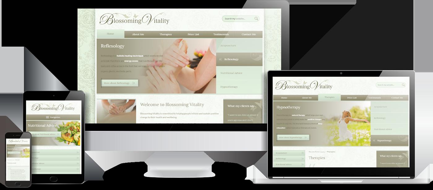 Blossoming Vitality Website Design