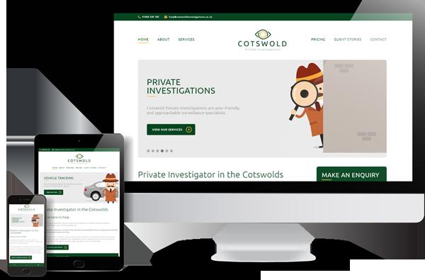 Cotswold Private Investigations Website Design