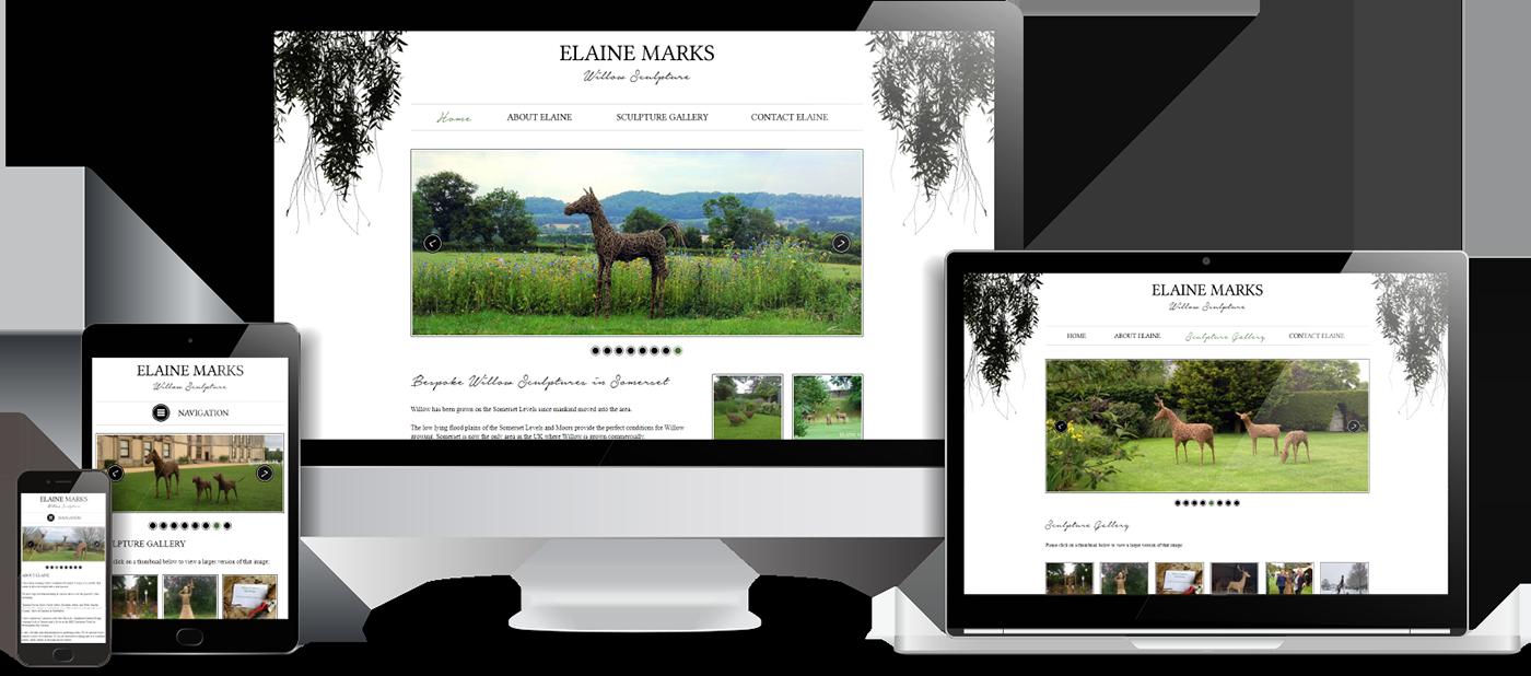 Elaine Marks Willow Sculpture Website Design