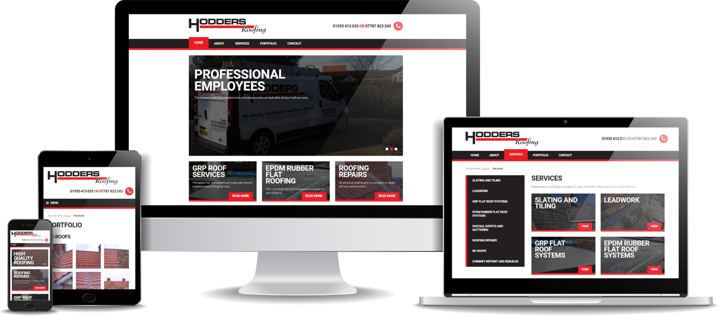 Hodders Roofing Website Design