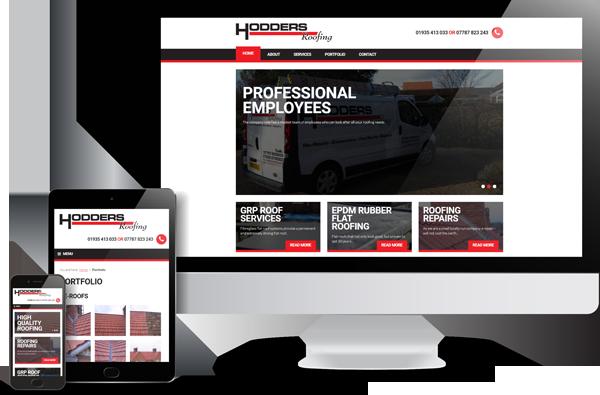 Hodders Roofing Website Design