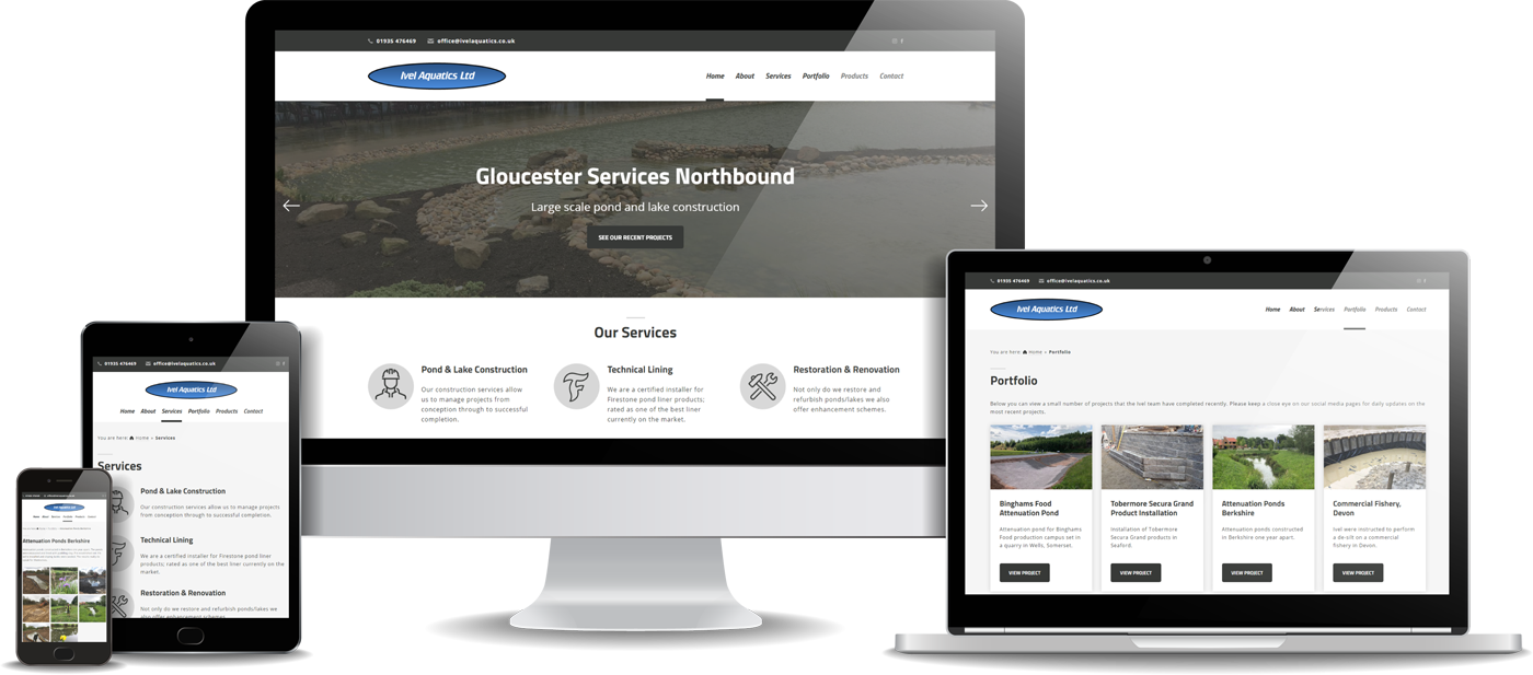 Ivel Aquatics Website Design