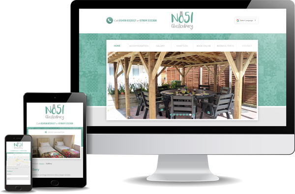 No 51 Glastonbury Website Design