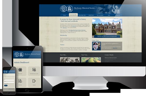 Sherborne Historical Society Website Design