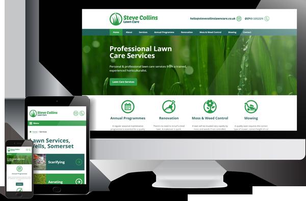 Steve Collins Lawn Care Website Design
