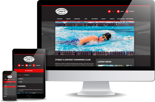 Street & District Swimming Club Website Design