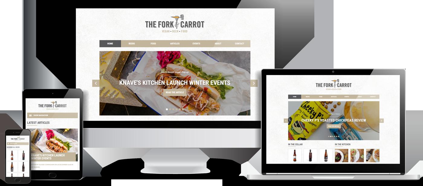 The Fork & Carrot Website Design
