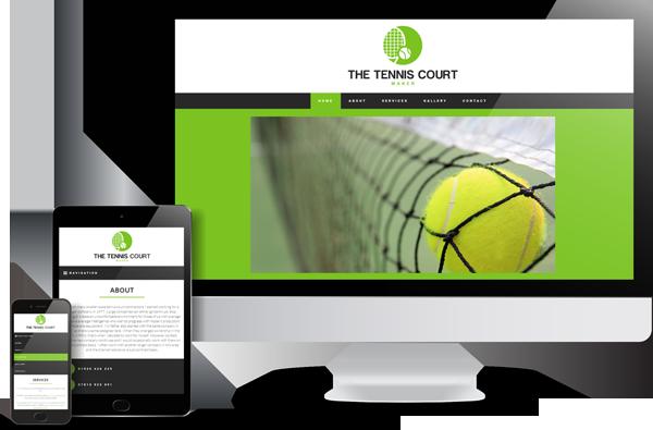 The Tennis Court Maker Website Design