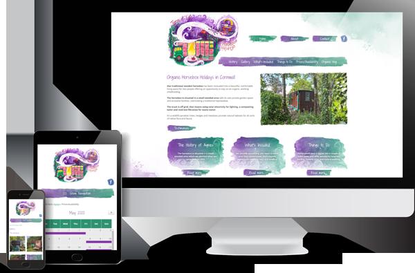 Tree of Life Horsebox Holidays Website Design